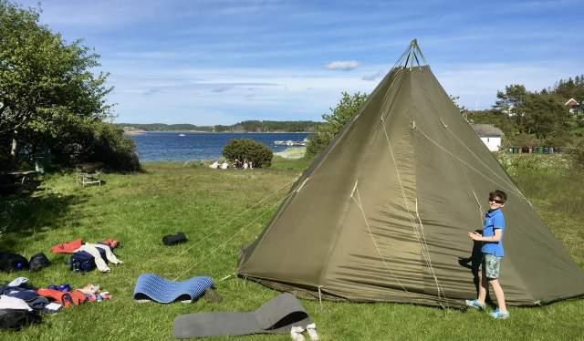 Telting på Merdø