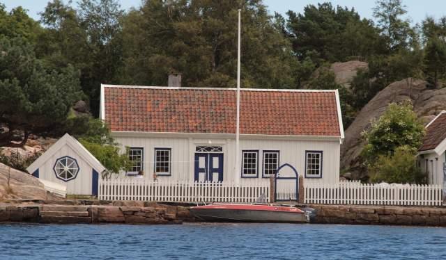 """Vilhelm Krags eiendom """"Havbukta"""" på Helgøya i Ny-Hellesund"""