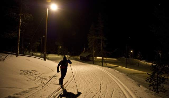 Floodlit trails in Setesdal