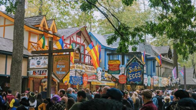 The streets at the Maryland Renaissance Festival