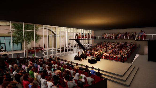 Rendering of MC3 StageTwo theater.