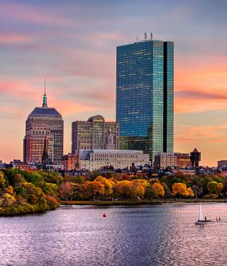 Boston Skyline in Fall