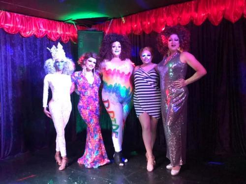 Drag brunch at Pride Bar