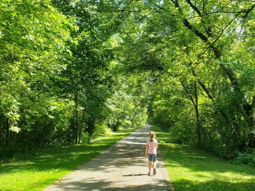 Kenosha County Bike Trail - Girl on Trail