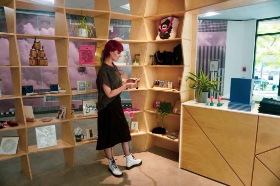 Golda Dopp Ovalles at UMOCA's Art Shop