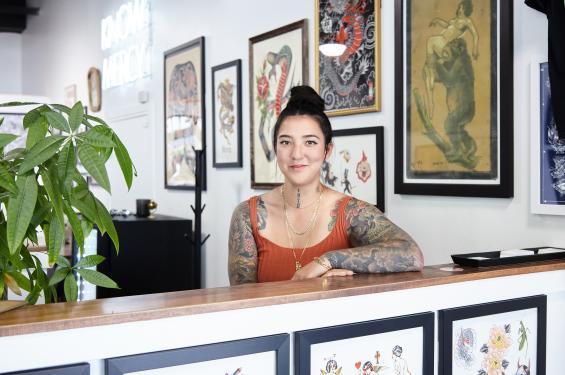 Mina Aoki of Mercy Tattoo