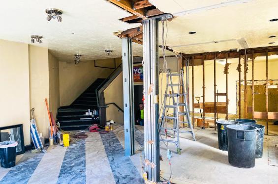 SLAC Lobby Under Construction Spring 2021