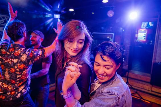 LGBTQ Couples Dancing