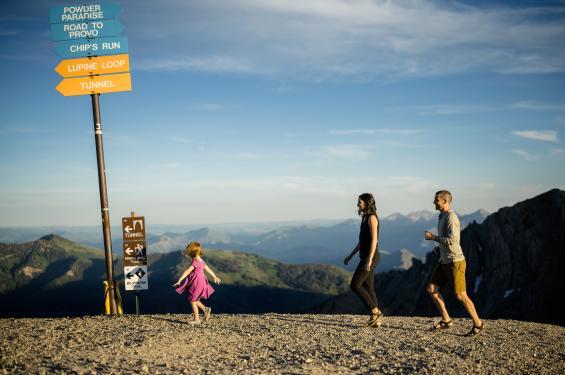 Family Hiking near Snowbird in Little Cottonwood Canyon