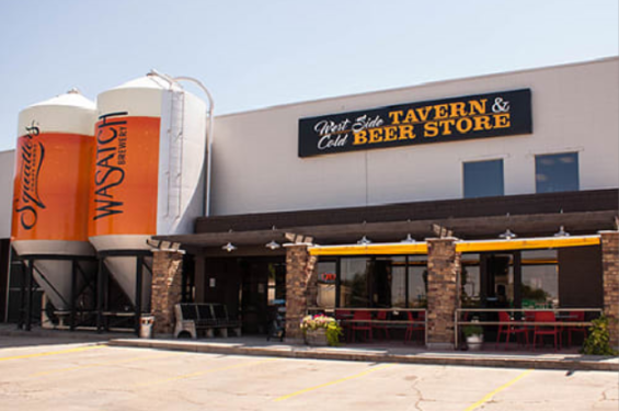 Exterior of West Side Tavern and Beer Store