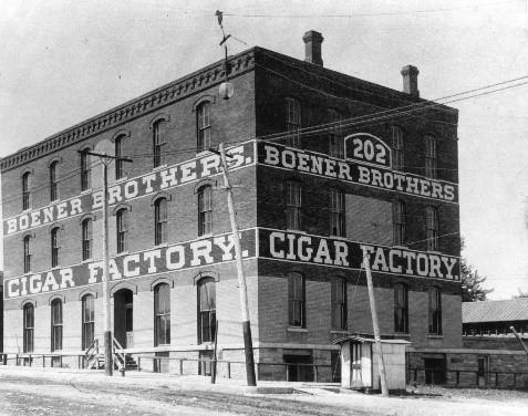 Boener Brothers Cigar Factory, about 1905