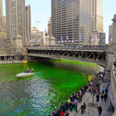 St. Patrick's Day River Dyeing ©City of Chicago