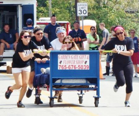 Don't miss the Bed Race on Monday at North Salem Old Fashion Days (Photo courtesy of North Salem Old Fashion Days Festival Facebook page)