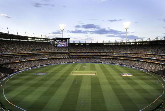 Cricket being played at the MCG