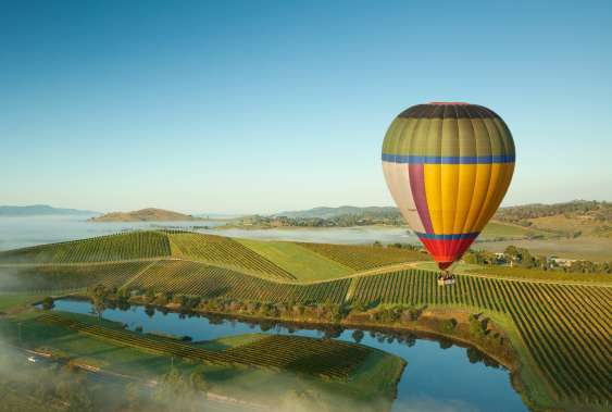 Hot air balloon yarra valley