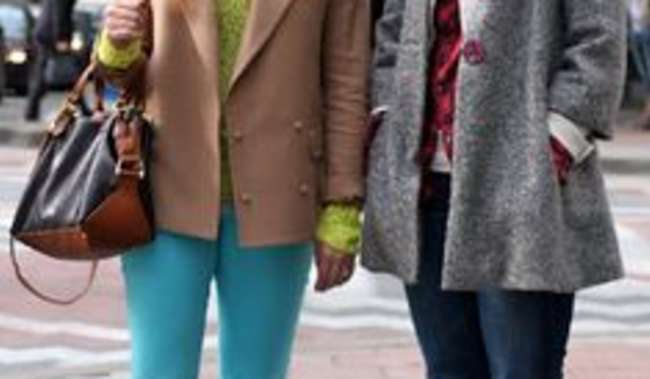 Girls shopping at Westlake Mall Downtown Seattle