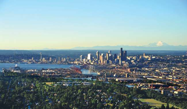 Aerial View of Seattle from the South