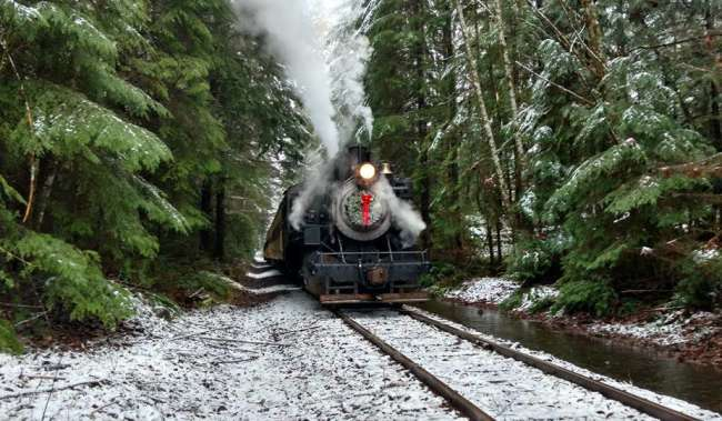 Polar Express Train to Mt Rainier