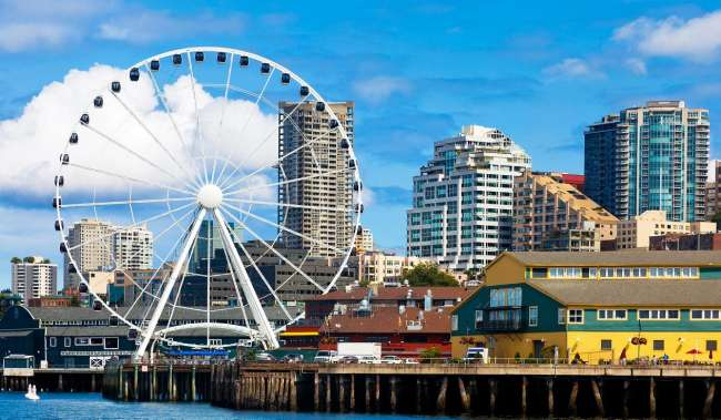 Seattle Waterfront and Great Wheel