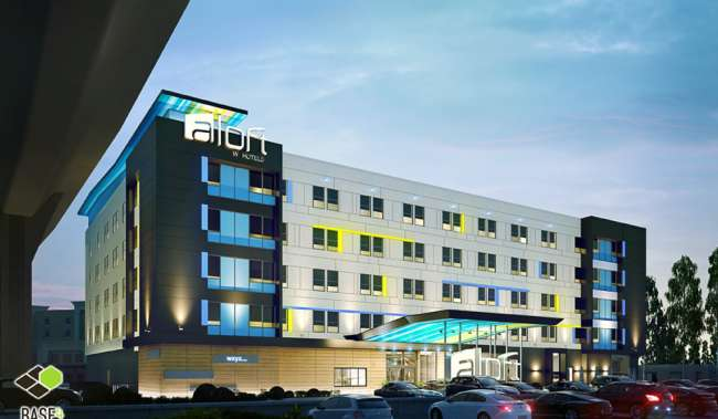Aloft Hotel Exterior Shot