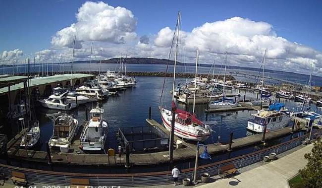 Seattle Webcam at Des Moines Marina