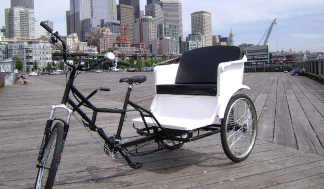 Pedicabs Downtown Seattle Waterfront