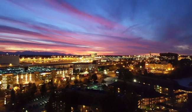 Sunset View of Downtown Seattle