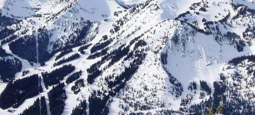 Mountain ski slopes