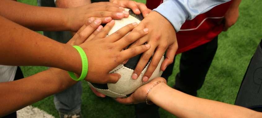 Hands on Soccer Ball