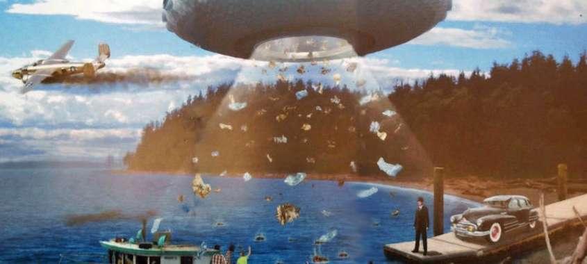 Mural of UFO