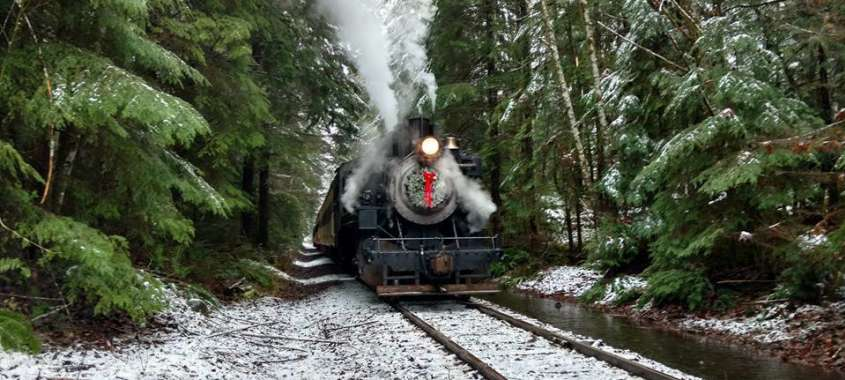 Polar Express Train to Mt Rainier