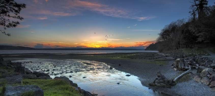 Des Moines Beach Sunset
