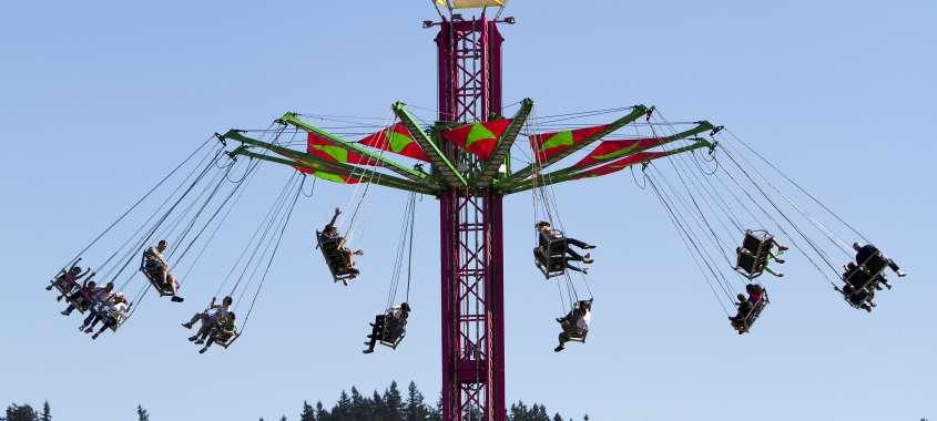 Swing Ride at Washington State Fair in Puyallup