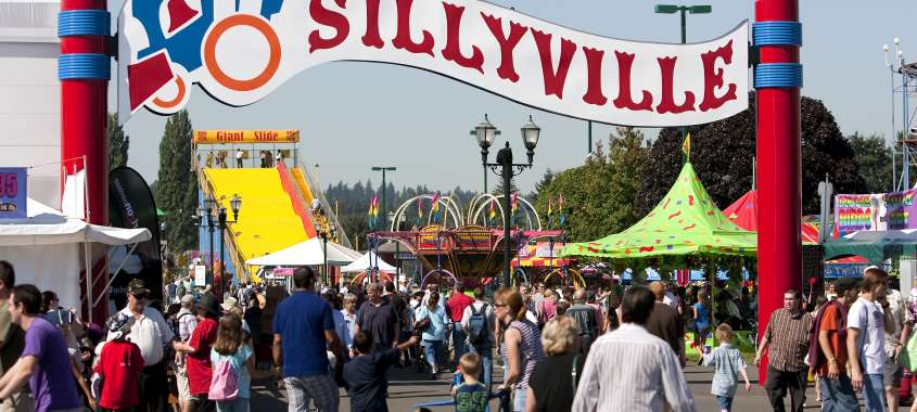 Sillyville Rides at Washington State Fair in Puyallup