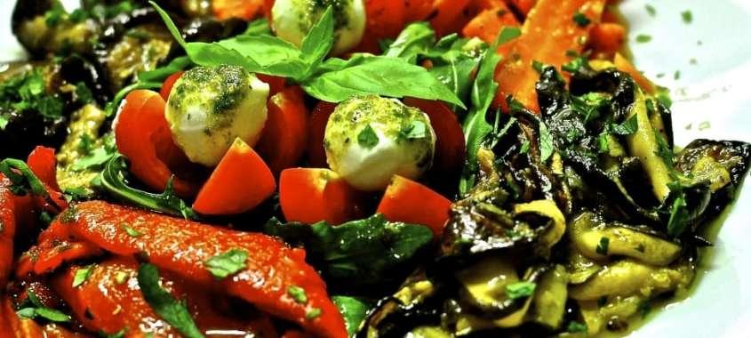 vegetable antipasti on plate
