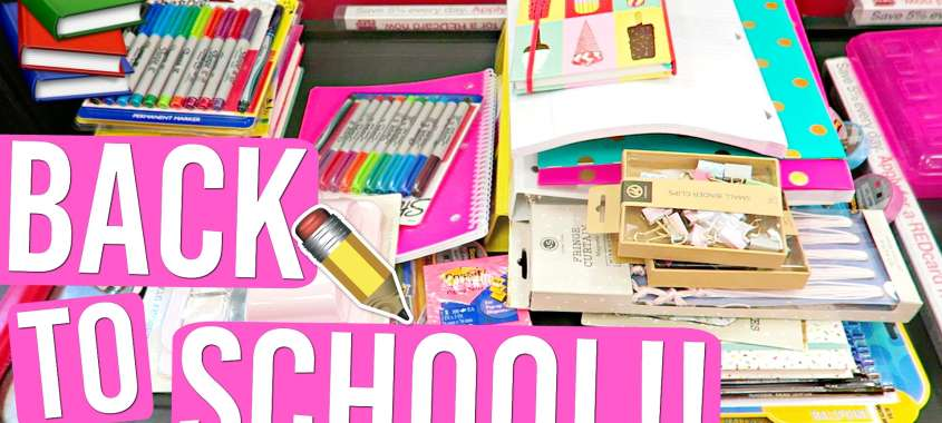Back to School shopping sign