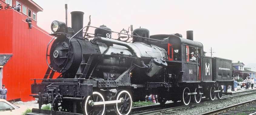Locomotive at Mount Rainier Railroad