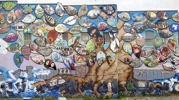 Susan Greene Art Forces Mural