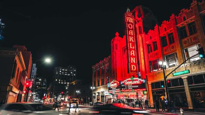 Fox Theater at night