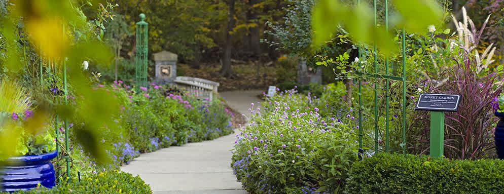 Garden path at the Overland Park Arboretum