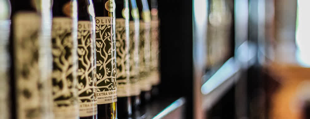 Olive oil varieties at Olive Tree in Overland Park
