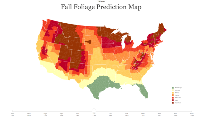 2020 Fall Foliage Prediction Map