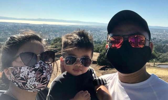 Masked Family at Oakland Zoo