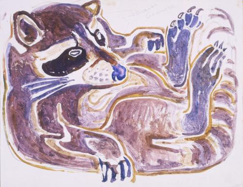 20. Contented Coon, c. 1960. Watercolor on Paper. Permanent Collection, John S. and James L. Knight Foundation Purchase