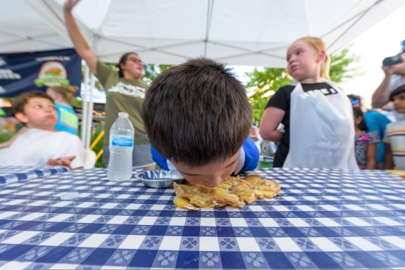 Labor Day Pie Eating Contest