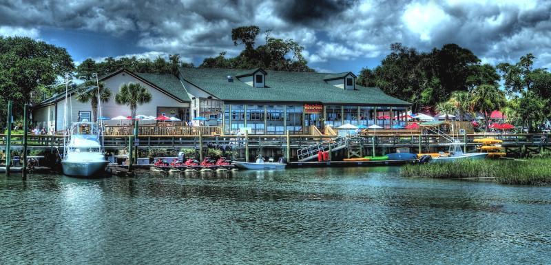 Water at MarshWalk of Dead Dog Saloon and Boats