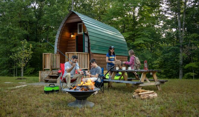 Family Camping - Explore Park Cabins - Roanoke, VA