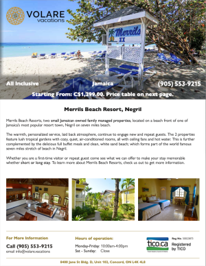 Specials - Merrils-Jamaica_Volare_Vacations