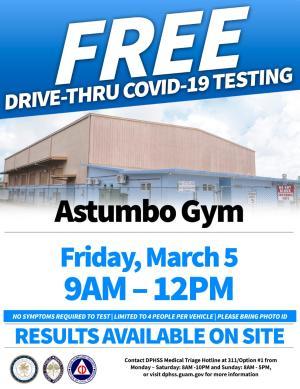 COVID-19 Testing March 5