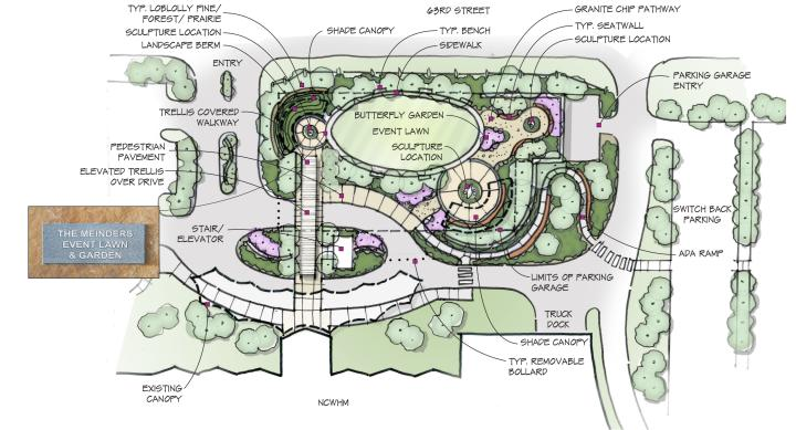 Map of the New Meinders Lawn and Garden at the Cowboy